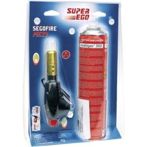 Газовая горелка SEGOOFIRE PIEZO с баллончиком BTP300, SUPER-EGO, 3555500