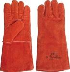 Краги сварщика спилковые пятипалые утепленные красные, FIT, 12455