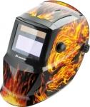 Щиток защитный лицевой (маска сварщика) с автозатемнением, пламя , MATRIX, 89137