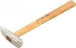 Молоток слесарный, квадратный боек, деревянная рукоятка, СИБРТЕХ
