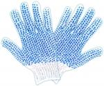 Перчатки вязаные, х/б, с ПВХ, размер 20, КОНТРФОРС