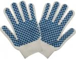 """Перчатки вязаные, """"Черепаха"""", класс вязки 7,5, Х/Б с ПВХ напылением, КОНТРФОРС, 040780"""